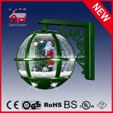 모든 녹색 크리스마스 벽 램프 산타클로스 훈장 LED 빛