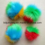 Bille multicolore de la fourrure POM POM de Faux pour le pendant de sac et de téléphone mobile