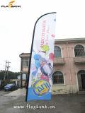 Знамя флага летания промотирования случая алюминиевое изготовленный на заказ