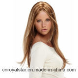 Nuovo Fashion Star Sweet e Lovely Long Straight Brown Synthetic Wig