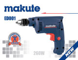 Makute 260W 6.5mm Electric Power Tools Drill Machine (ED001)