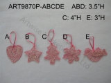"3 "" H, 3.5 "" H, 4 "" ornements d'arbre de crochet de rose de H, ornements 5assts-Christmas"