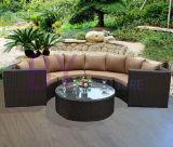 PET Rattan-Sofa-im Freien Ecksofa-Ausgangsmöbel