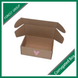 Caixa de embalagem ondulada impressa costume de Brown da caixa ondulada sem colagem