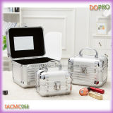 1 Set Light Beauty Case Silver Mirror Jewelry Boxes (SACMC068)に付き3