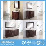 Mobília nova do banheiro da madeira contínua do projeto do estilo americano com portas do arco (BV159W)