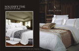 L'assestamento dell'hotel ha impostato i vestiti 100% dell'assestamento del cotone