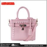 Миниый розовый мешок плеча женщин замка пояса