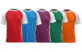 T-shirt à séchage rapide de Raglan de collet rond de l'été 100%Polyester