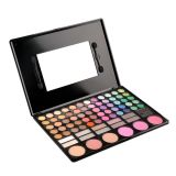 78 Palet die van de Oogschaduw van de Make-up die van kleuren benadrukken maakt het Kleurrijke de Oogschaduw van de Camouflagestift van het Rouge omhoog Uitrusting met Spiegel wordt geplaatst