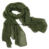 Повелительница Fashion Voile Cotton Scarf с Solid Colorful