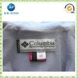 도매 관례 100%Polyester 공단 t-셔츠 (JP-CL045)를 위한 세척 배려 레이블