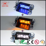 Hot Sales Switch Trois 3 couleurs Amber Strobe LED Visor Light / Car Interior LED Attention Flash Advisor / Traffic Signal Dash Light