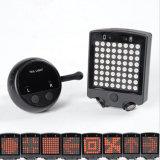 Seguridad teledirigida recargable de la señal de vuelta que advierte la luz de la bici del laser