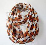 Frauen-Form überprüfter gedruckter Polyester-Chiffon- Unbegrenztheits-Schal (YKY1101)