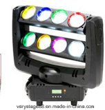8 * 10W 4-en-1 RGBW CREE LED Spider Beam Moving Head