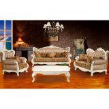 Sofà del salone con la presidenza di legno del sofà (503C)