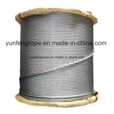 Heißes BAD galvanisiertes Stahldrahtseil 7*19-2.5