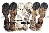 Hairband를 가진 고열 합성섬유 1/2 곱슬머리 가발