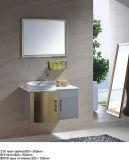 Gabinete de banheiro de mármore do aço inoxidável