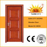 Дверь переклейки конструкции панели интерьера 3 деревянная (SC-W009)