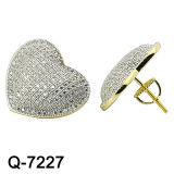 새로운 디자인 형식 925 은 구리 귀걸이 보석 (Q-7726, Q-7224, Q-7226, Q-7227, Q-7725. Q-7724)