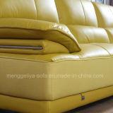Неподдельная кожа l софа комнаты формы живущий (898#)