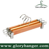 Vente en gros Hight Quality Cedarwood Pant Hanger with Two Clips