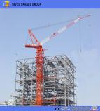 Fiocco della gru a torre della Cina 10t 60m con la gru a torre del caricamento Qtz125-6015 di punta 1.5t