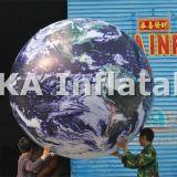 Гигантская раздувная луна глобуса земли воздушного шара PVC гелия