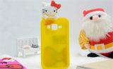 Hola caja del teléfono celular del silicón del arqueamiento del gatito para la galaxia J5 J5 J510 J710 (XSK-010) de Samsung
