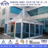 明確なガラス壁の庭のパビリオンの塔のテント