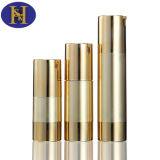 oro de aluminio plástico cosmético de 15ml 30ml 50ml/botella de plata