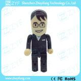 Negro Traje formal del hombre de negocios Personas Drive USB (ZYF1839)