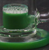 A melhor tubulação de água de fumo de venda do reciclador de vidro com cor verde da espessura de 4mm