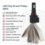 jogo da conversão do farol do diodo emissor de luz 9005/Hb3 para veículos dos carros