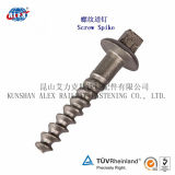 26X153 Zinc-Plated Rail Sleeper Screw