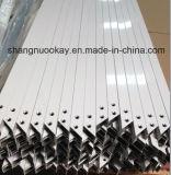 Perfil de alumínio anodizado da venda prata quente para a porta de armário da cozinha (SN634)
