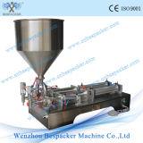 Máquina de rellenar líquida ajustada Semi-Auto del jabón líquido del llenador de la velocidad