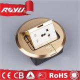 Forma redonda de cobre Material Universal Raised Floor Plugs Socket
