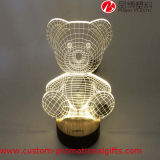 Bär Shape USB Powered 3D Illusion Table Lamp