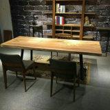 A tabela de jantar de madeira da boa noz do preço ajustou-se para a HOME (CG-007)