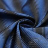 Agua y de la manera de la chaqueta tela catiónica tejida chaqueta Viento-Resistente 100% del filamento del hilado del poliester rayado del telar jacquar abajo (X024)