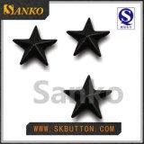 Les boutons de partie lisse en métal de modèle de mode aiment l'étoile