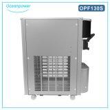 テーブルの上のソフトクリームメーカー(Oceanpower OP130S)