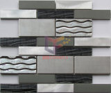 Het Aluminium van de Vorm van de strook met de Tegel van het Mozaïek van het Glas (CFM982)