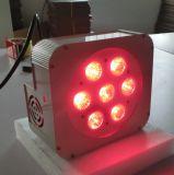 Luz de la Navidad plana sin hilos de la IGUALDAD 7X15W Rgbaw LED de DMX
