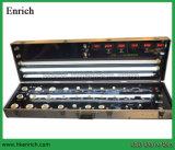 Caixa da mostra do indicador de diodo emissor de luz com medidores da potência/Voltage/PF/Cost