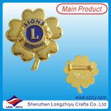 Divisa juguetona modificada para requisitos particulares del metal con insignia plateada oro