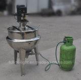 Chaleira Jacketed industrial do cozimento de gás natural do aço inoxidável